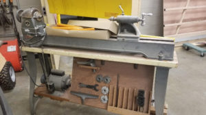Woodworking lathe and accessories
